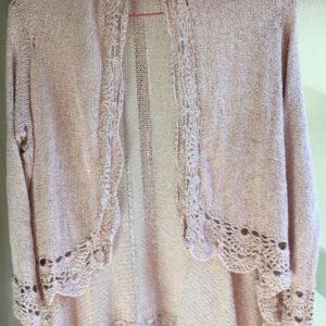 Gilet Soie Tricot Crochet