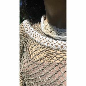 Pull Crochet Filet Fait Main
