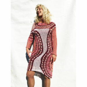 Robe Crochet Art « Rose »