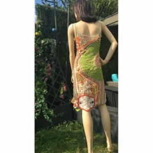 Robe Fleurs Crochet Art Faite Main