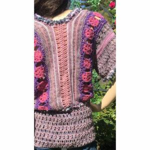 Top Crochet Fait A La Main Soie