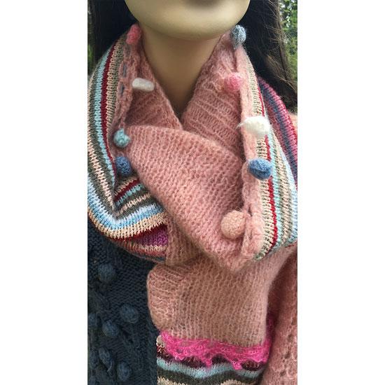Tricot fait main, tricot d'art, tricot de luxe, tricot, snood fait main