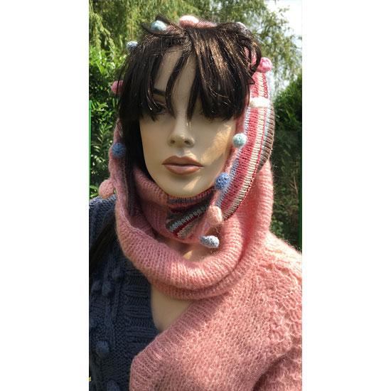 Tricot fait main, tricot d'art, tricot de luxe, tricot et snood fait main, snood tricoté main