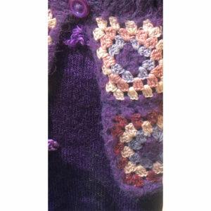 Veste Mohair Carre Crochet Tricot