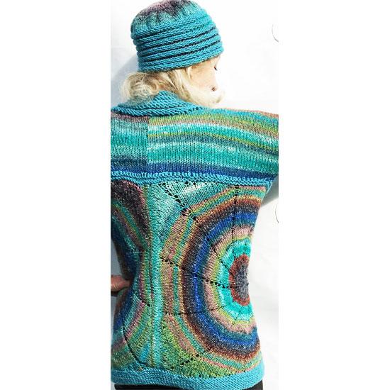 Veste noro tricot main soie laine etmohair