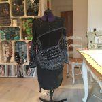 robe tricotée à la main