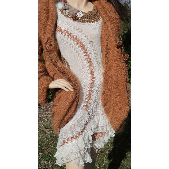 Veste mohair tricotée main, veste mohair de luxe anny blatt, veste mohair de créateur tricotée main