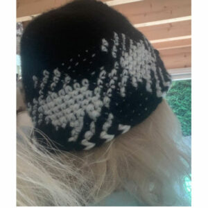 Bonnet Crochet Jacquard Damier