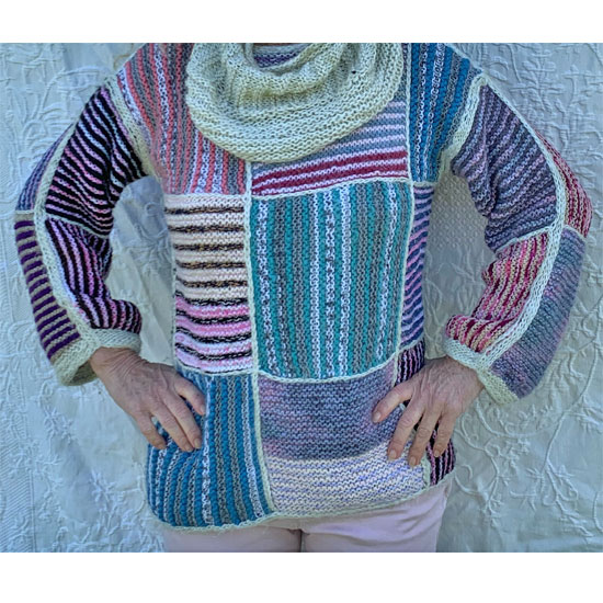 Pull Patchwork Tricot