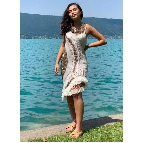 Robe Crochet Haute Couture, Crochet Artistique