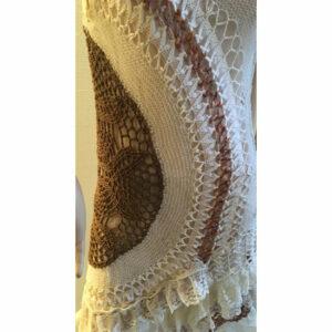 Robe Crochet Haute Couture Tricot Artistique