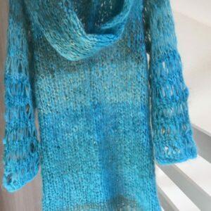 Robe Pull Mohair Echarpe