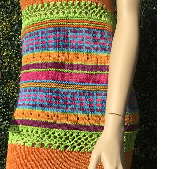 Robe-tricot-jacquard-tricot-fait-main