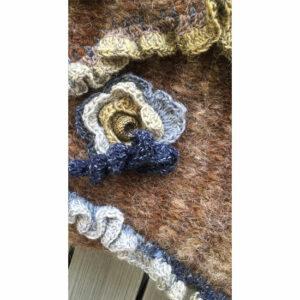 Sac Tricot Fait Main Art Fleurs Crochet