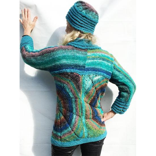 Veste noro tricot main soie laine et mohair