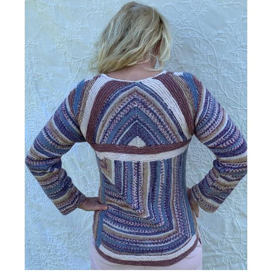 Pull tricot fait main domino