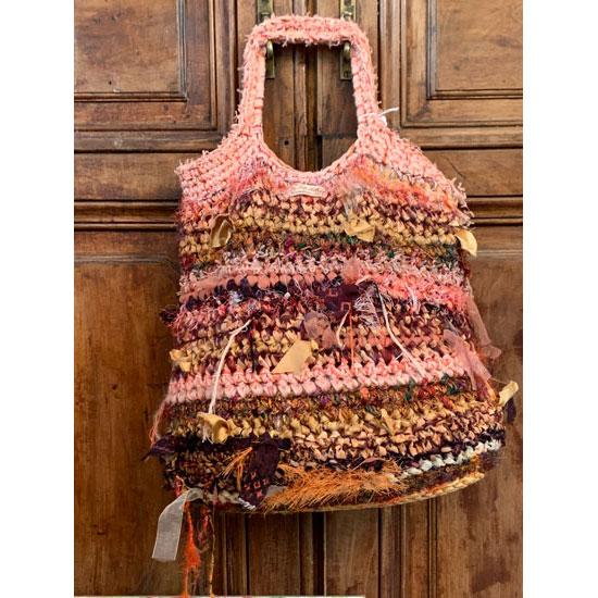 sac au crochet en soie