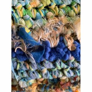 Sac Crochet Tissu Main