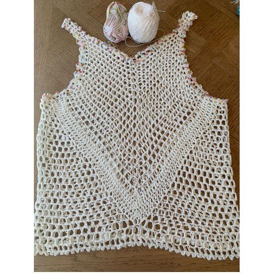 top crochet dentelle