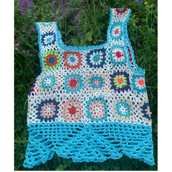 top granny au crochet