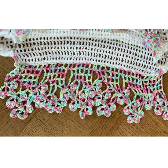 top crochet pastel fait main
