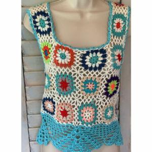 Top Crochet «Arc En Ciel»